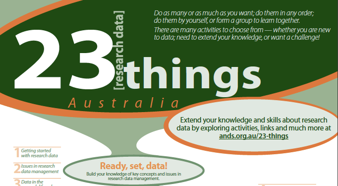 Gelezen: 23 (research data) Things by Australian National Data Service (ANDS)