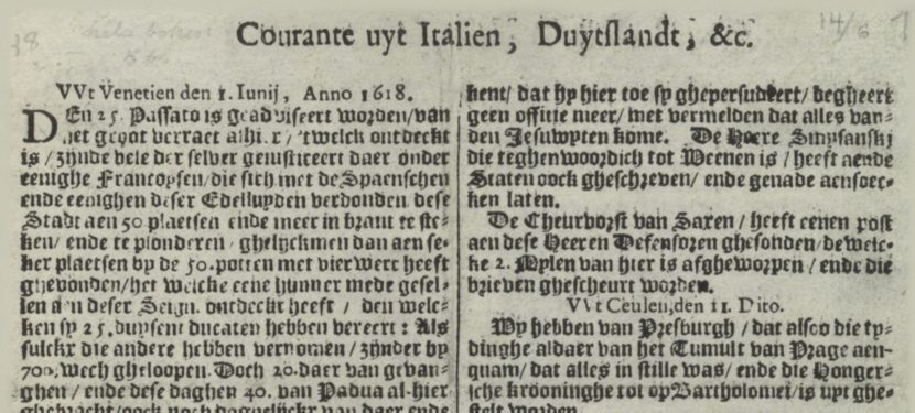 Oudste teksten op Delpher vrij beschikbaar
